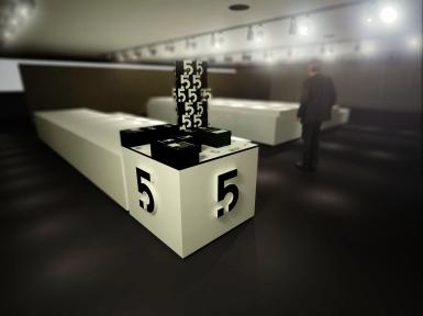 Variante du présentoir (relief des cases)
